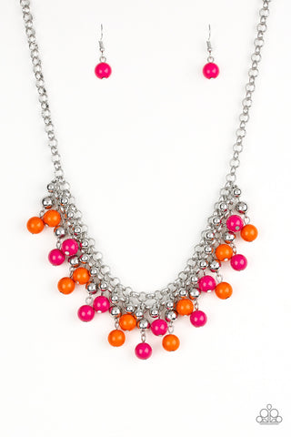 Friday Night Fringe - Multi Color Necklace - Paparazzi Accessories