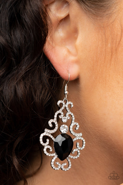 Happily Ever AFTERGLOW - Black Earrings - Paparazzi Accessories