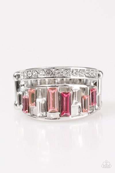 The Treasure Trove - Pink Rhinestone Ring - Paparazzi Accessories