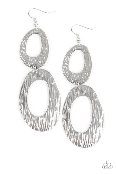 Paparazzi I've SHEEN It All Hoop Earrings - Silver
