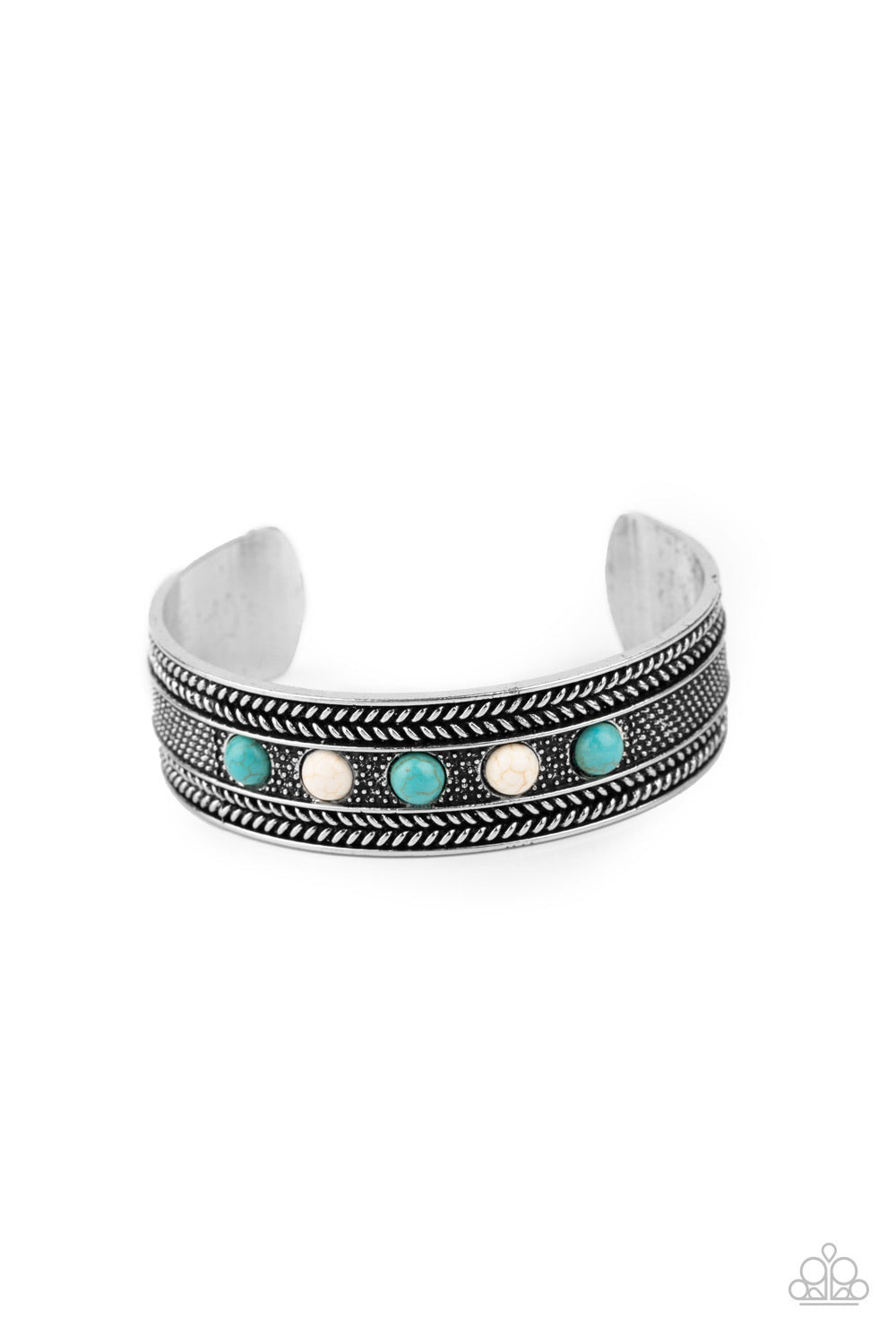 Quarry Quake - Blue Stone Bracelet - Paparazzi Accessories