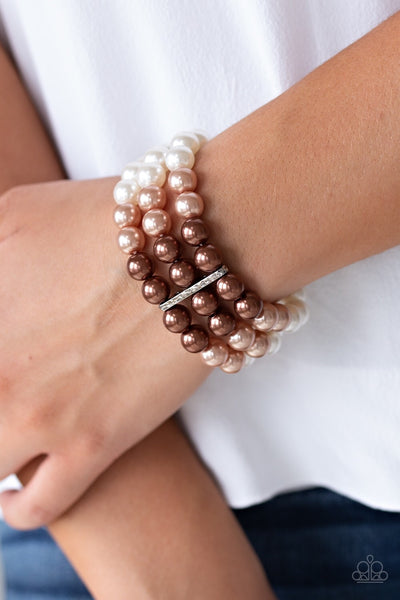 Paparazzi Central Park Celebrity Bracelet - Brown