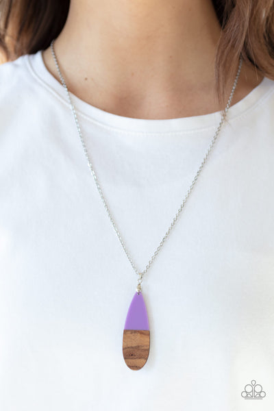 Going Overboard - Purple Necklace - Paparazzi Accessories