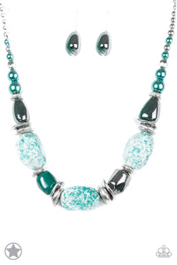 In Good Glazes - Blue Necklace - Paparazzi Accessories
