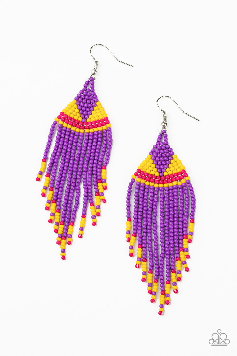 BEADazzle Me - Purple Seed Bead Earrings - Paparazzi Accessories