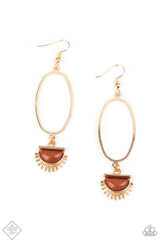 SOL Purpose - Gold Earrings - Paparazzi Accessories