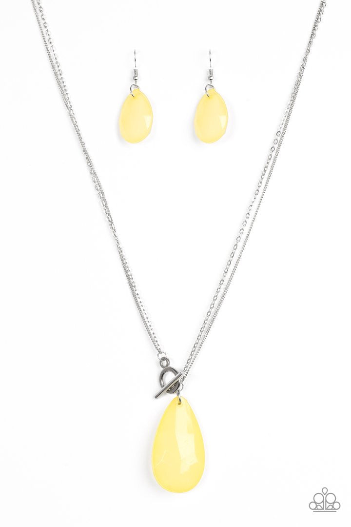 Spring Storm - Yellow Necklace - Paparazzi Accessories
