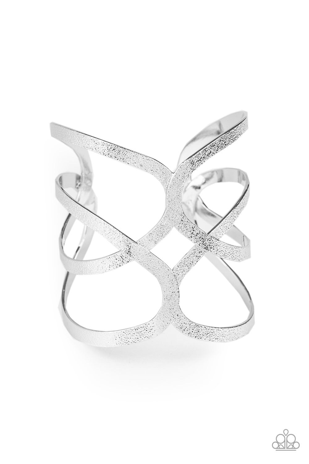 Crossing The Finish Line - Silver Cuff Bracelet - Paparazzi Accessories