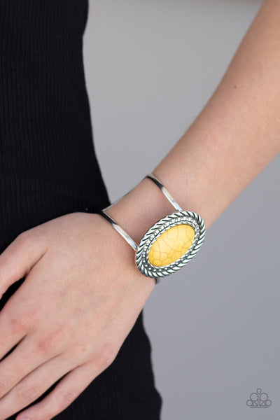 Desert Aura - Yellow Stone Bracelet - Paparazzi Accessories