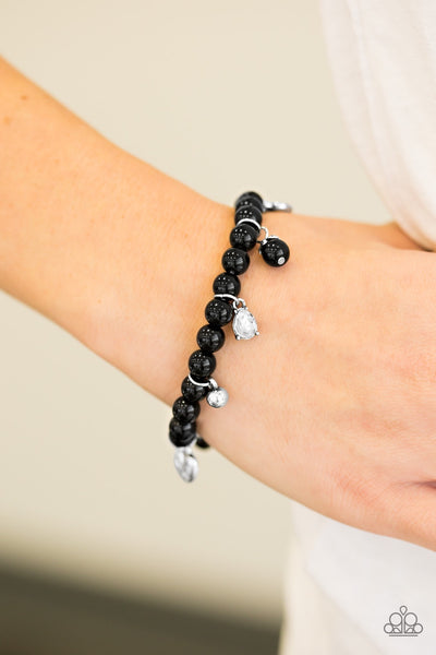 Paparazzi Big Time Crush Bracelet-Black