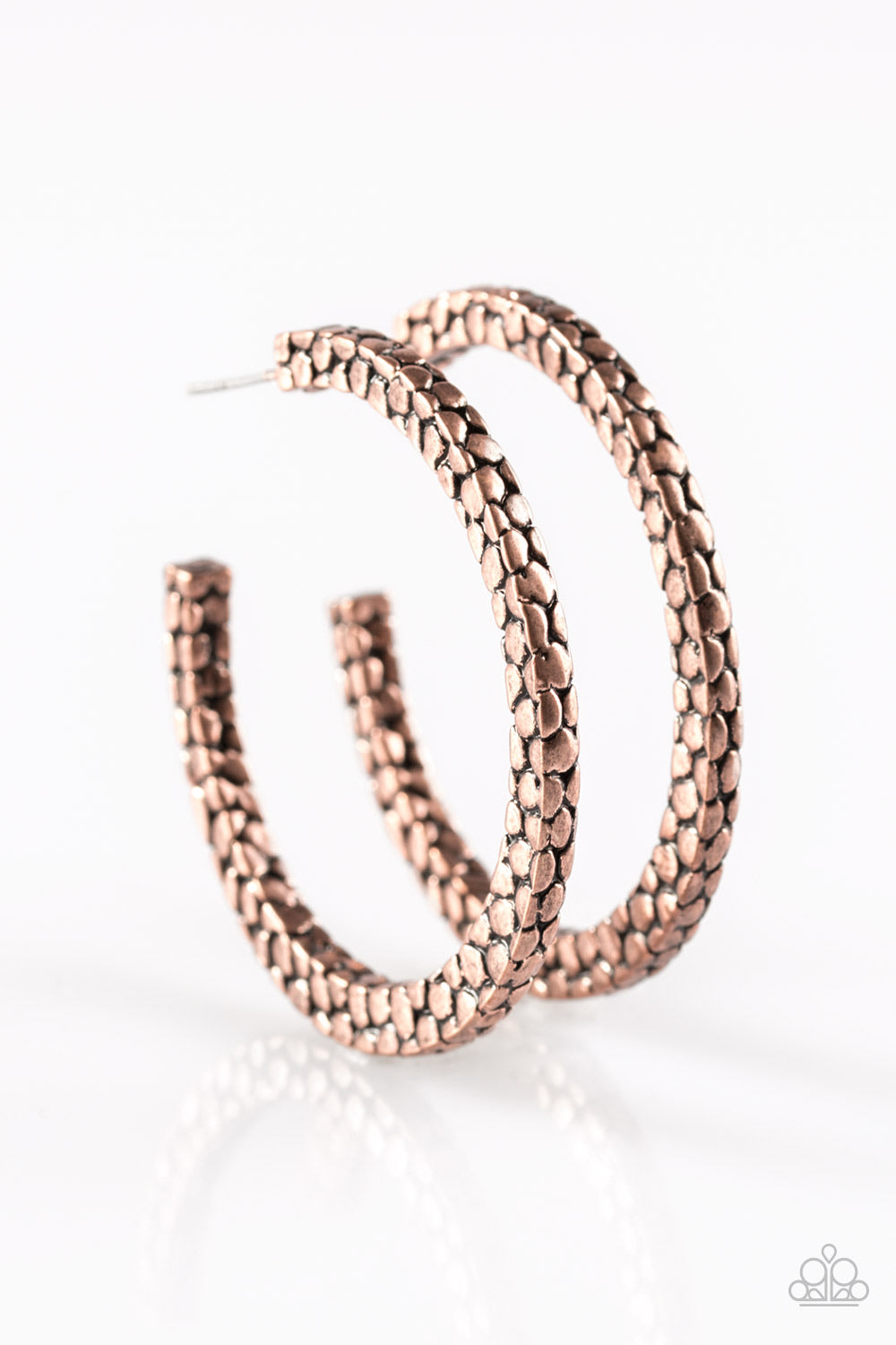 Make The Beast of It - Copper Hoop Earrings - Paparazzi Accessories