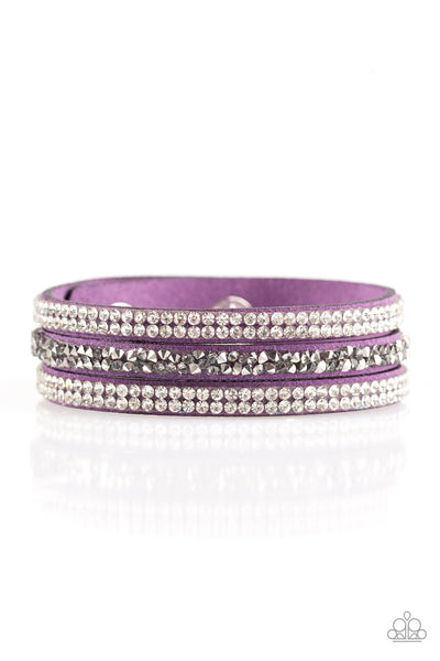 Mega Glam - Purple Urban Bracelet - Paparazzi Accessories
