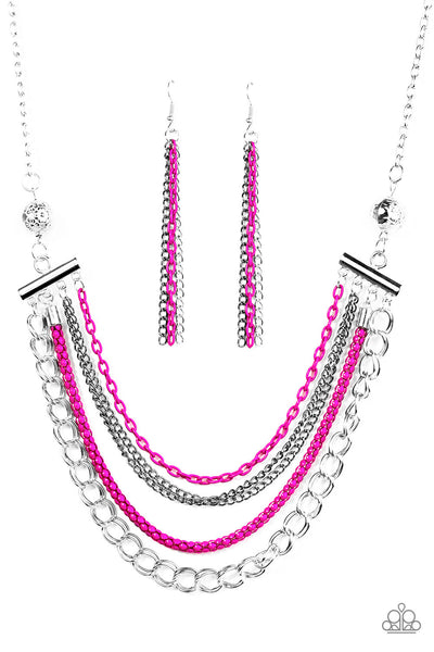 High-Intensity - Pink Necklace - Paparazzi Accessories