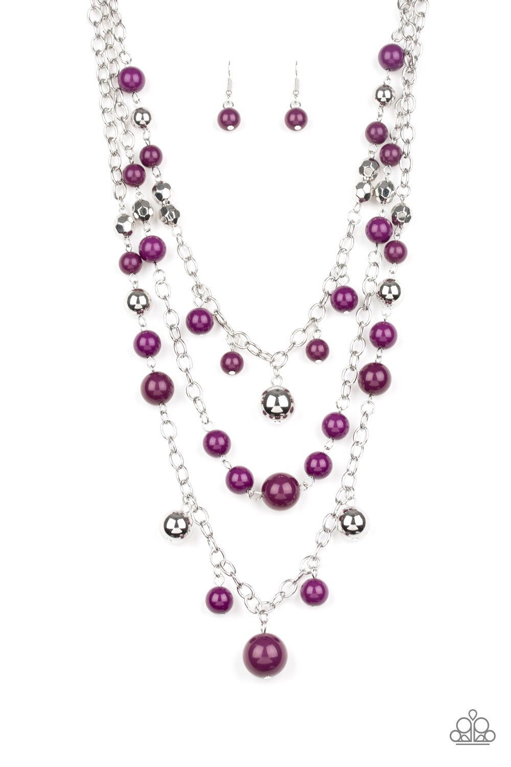 The Partygoer - Purple Necklace - Paparazzi Accessories