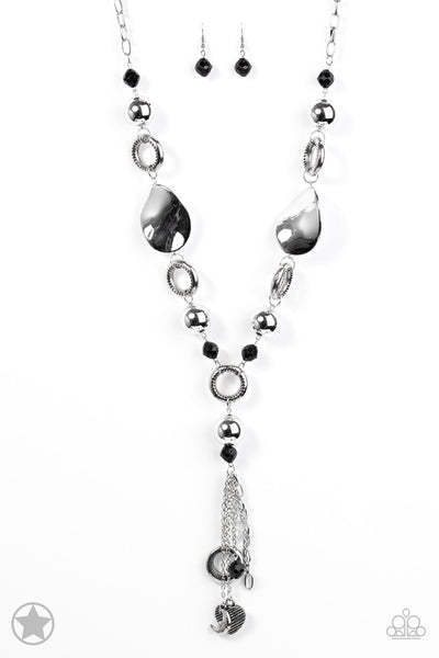Total Eclipse Of the Heart - Silver/Black Necklace - Paparazzi Accessories