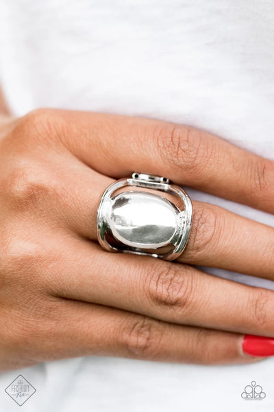 All Shine, All The Time - Silver Ring - Paparazzi Accessories