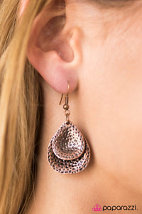 Reel Em In - Copper Earrings - Paparazzi Accessories