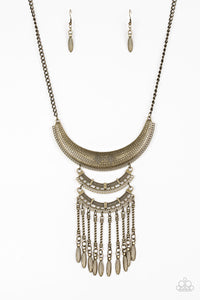 Eastern Empress - Brass Necklace - Paparazzi Accessories