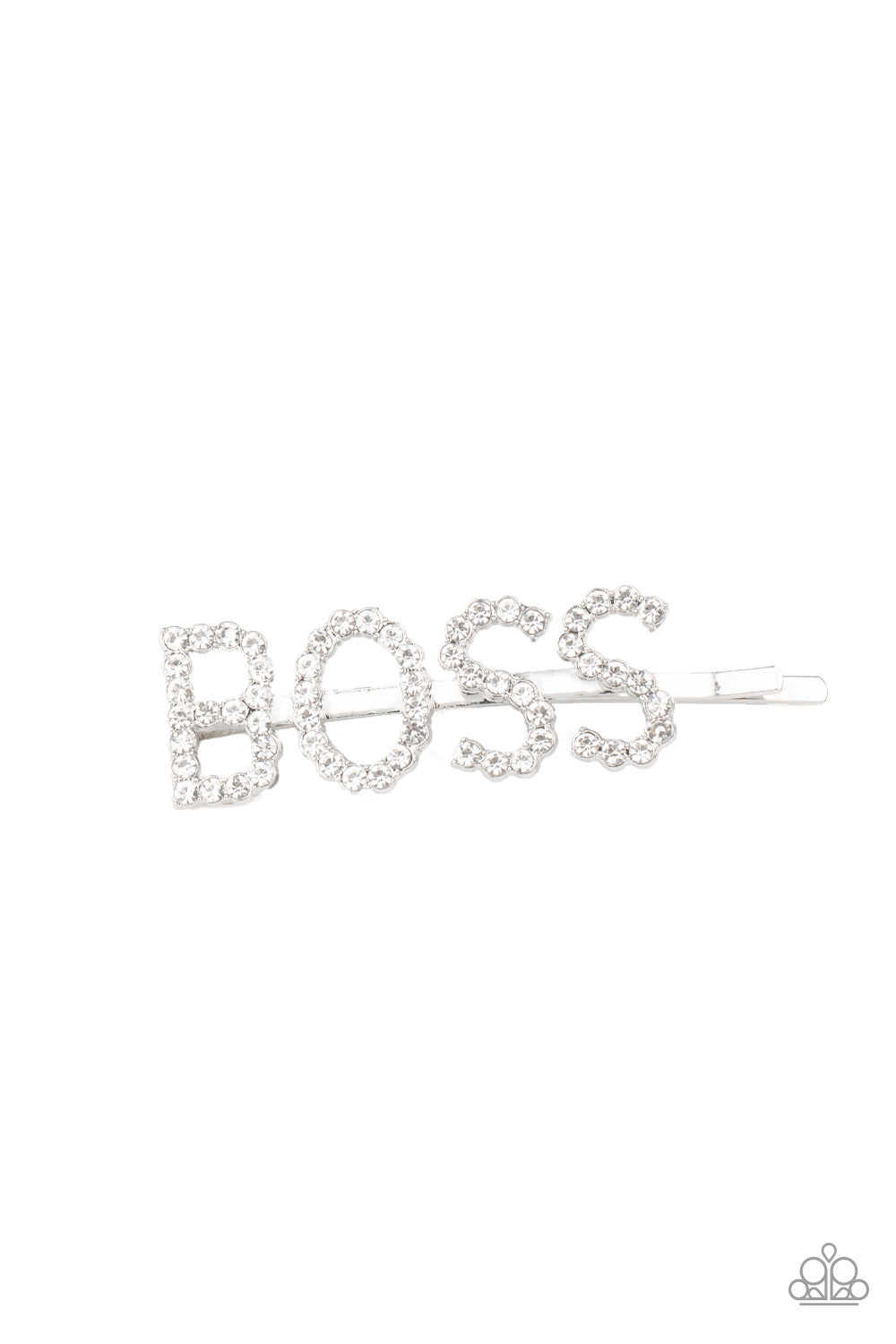 Yas Boss! - White Hair Clip - Paparazzi Accessories