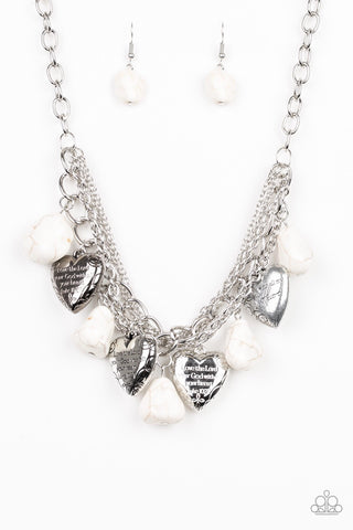 Paparazzi Change Of Heart Necklace- White