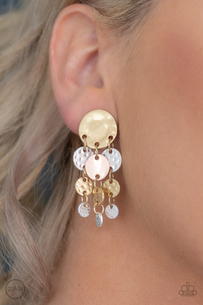 Do Chime In - Multi Clip- On Earrings - Paparazzi Accessories