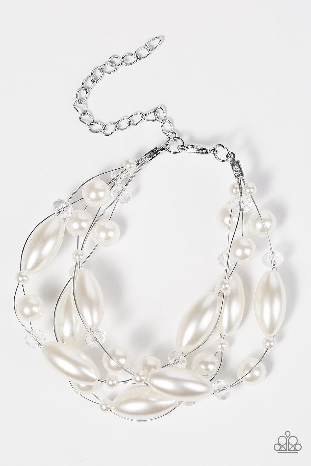 Then Comes Marriage - White Pearl Bracelet - Paparazzi Accessories