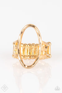 Center Chic - Gold Ring - Paparazzi Accessories