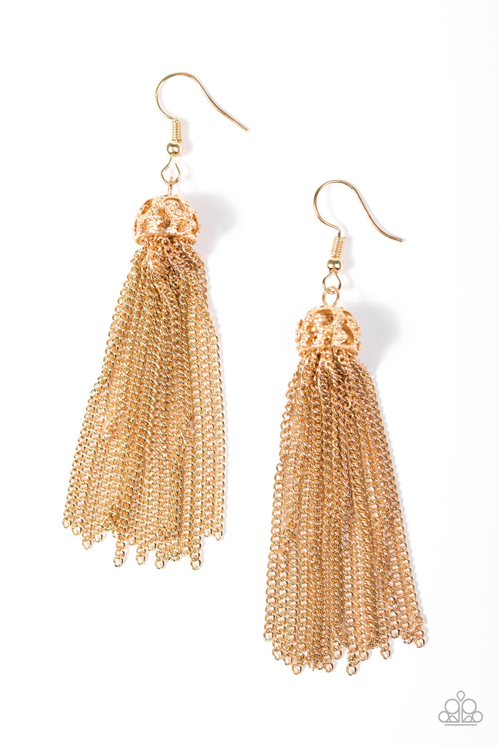 Oh My Tassel - Gold Earrings - Paparazzi Accessories