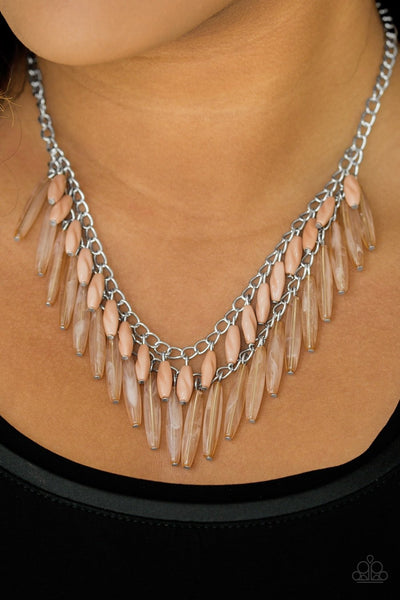 Speak of the DIVA - Brown Beaded Necklace - Paparazzi Accessories