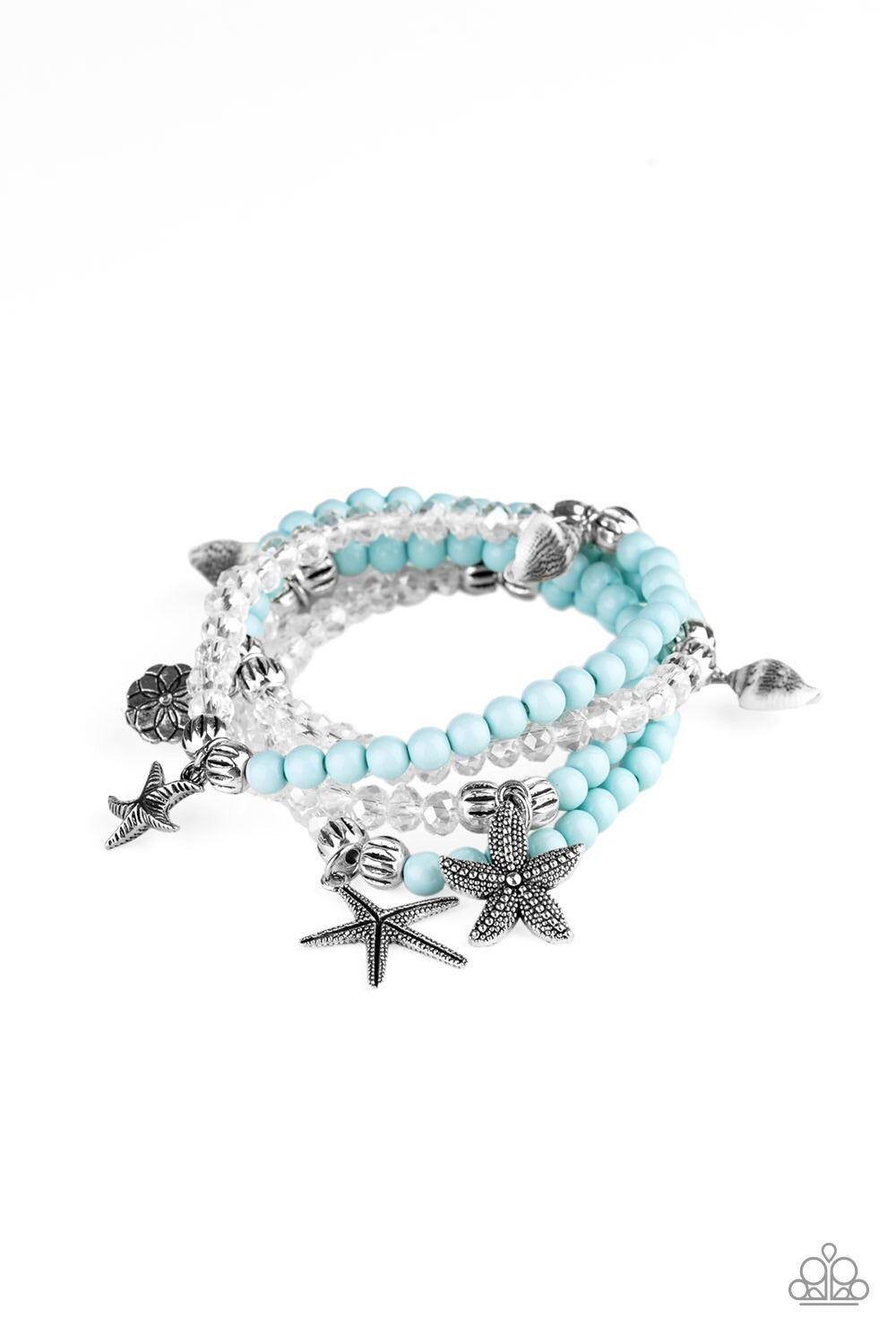 Paparazzi Ocean Breeze Charm Bracelet - Blue
