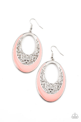 Orchard Bliss - Orange Earrings - Paparazzi Accessories