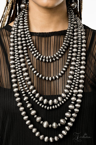 Instinct - Gunmetal Beaded Necklace - Paparazzi Accessories