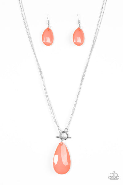 Spring Storm - Orange Necklace - Paparazzi Accessories