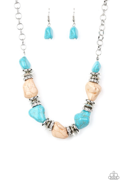 Stunningly Stone Age - Multi Stone Necklace - Paparazzi Accessories