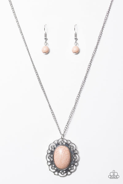 Sun and Sandstone - Brown Necklace - Paparazzi Accessories