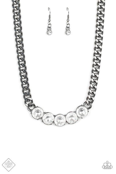 Rhinestone Renegade - Black Necklace - Paparazzi Accessories