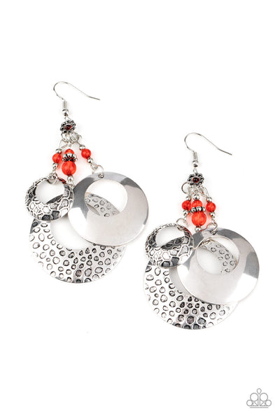 Wanderlust Garden - Red Earrings - Paparazzi Accessories