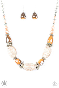 In Good Glazes - Peach Necklace- Paparazzi Accessories