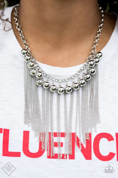 Powerhouse Prowl - Silver Necklace - Paparazzi Accessories