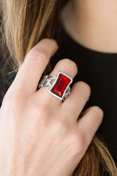 Paparazzi Glamour Icon Ring - Red