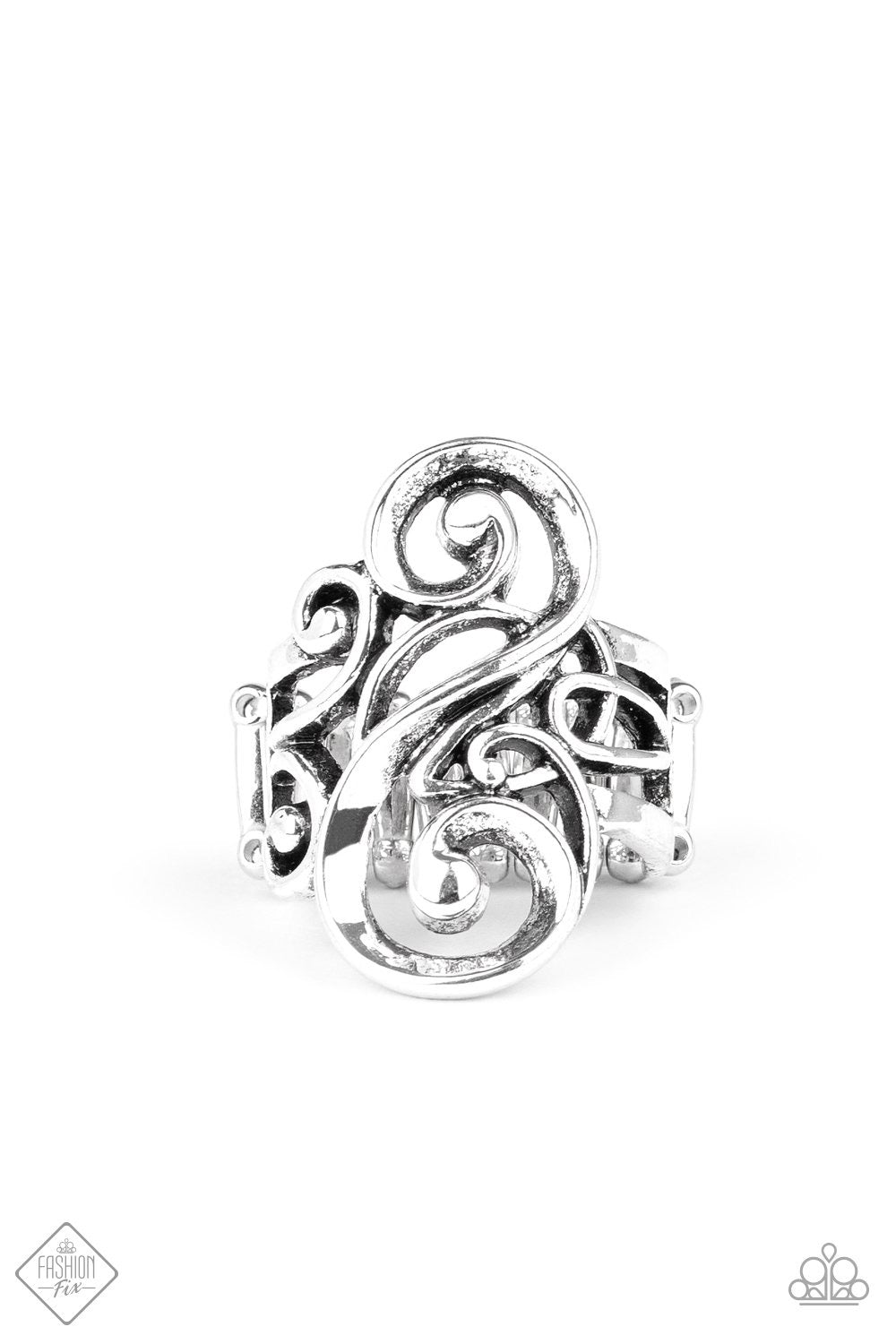 Musical Motif - Silver Ring - Paparazzi Accessories