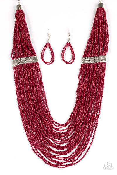 We Got The Bead - Red Seed Bead Necklace - Paparazzi