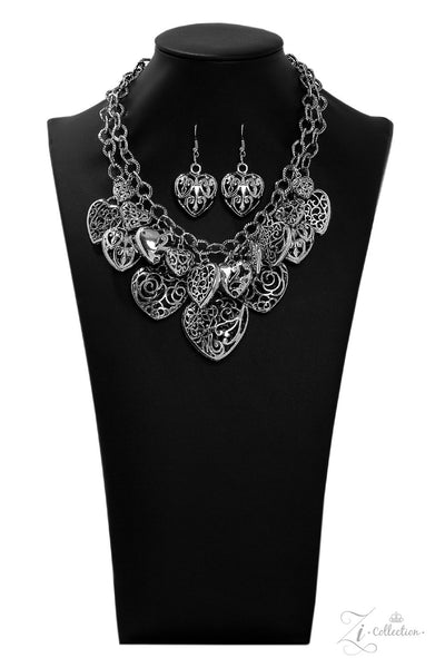 Cherish - Silver Heart Necklace- Paparazzi Accessories