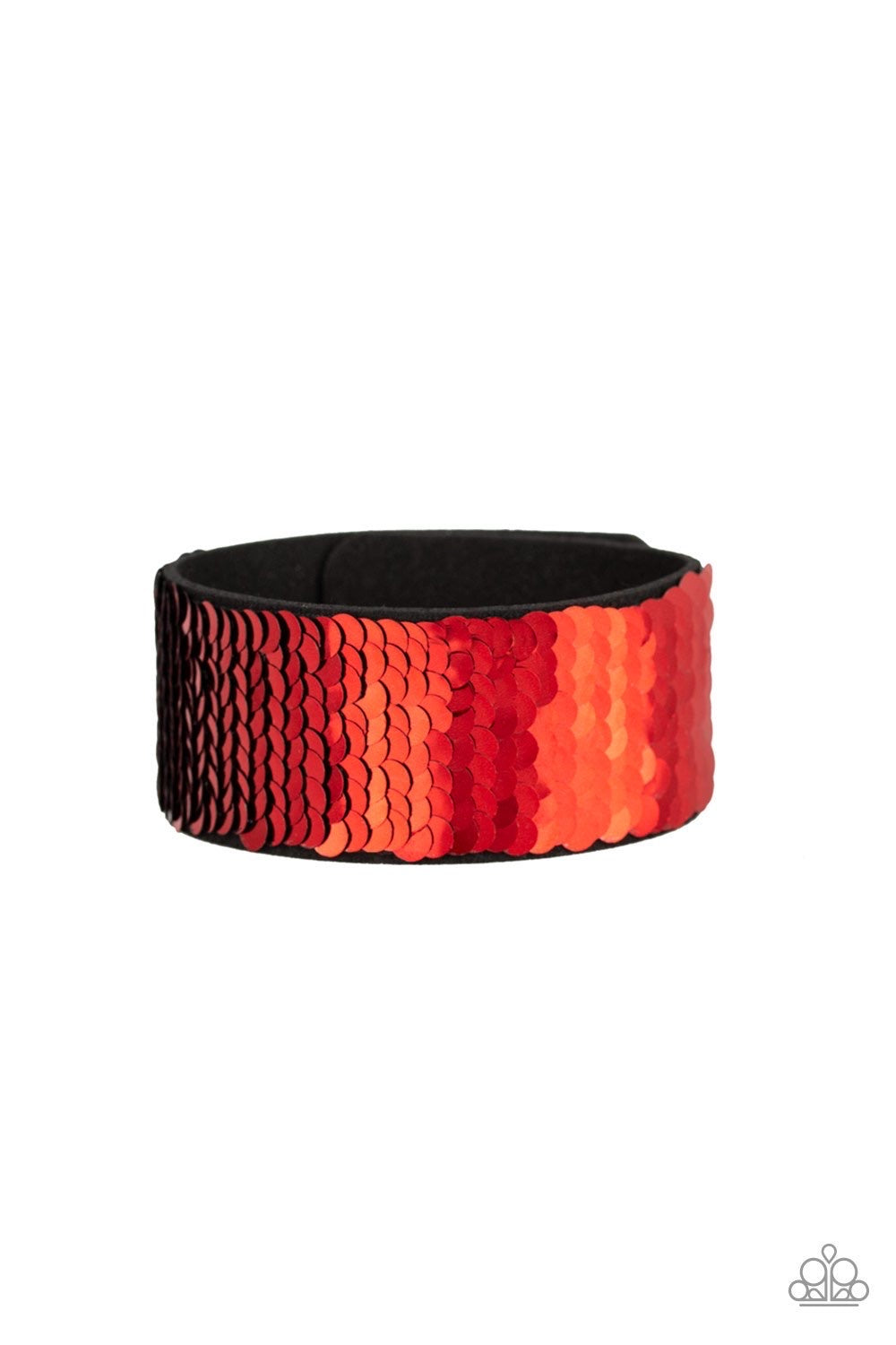 Mer-mazingly Mermaid - Red Urban Bracelet - Paparazzi Accessories
