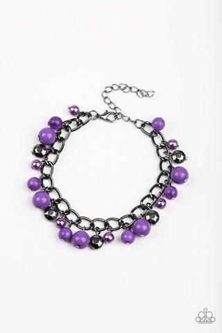 Hold My Drink - Purple Pearl Bead Bracelet - Paparazzi Accessories