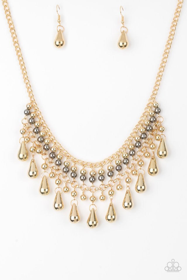Paparazzi Don't Forget To Boss Necklace-Gold