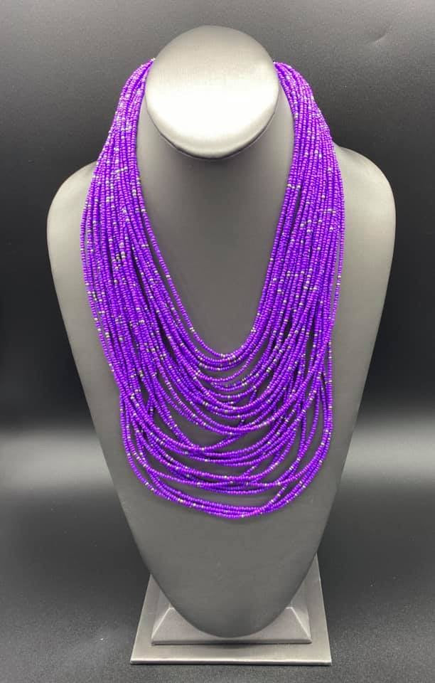 Rio Rainforest - Purple Seed Bead Necklace - Paparazzi Accessories