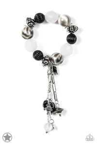 Lights! Camera! Action! - Black/White Bracelet - Paparazzi Accessories