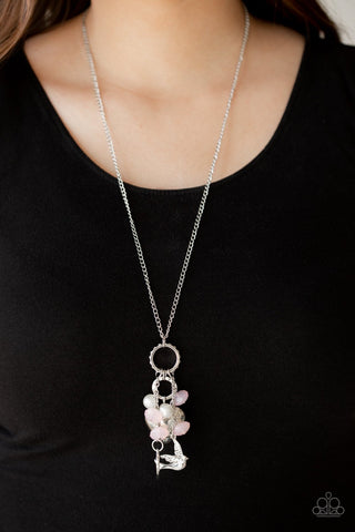 I Will Fly - Pink Necklace - Paparazzi Accessories