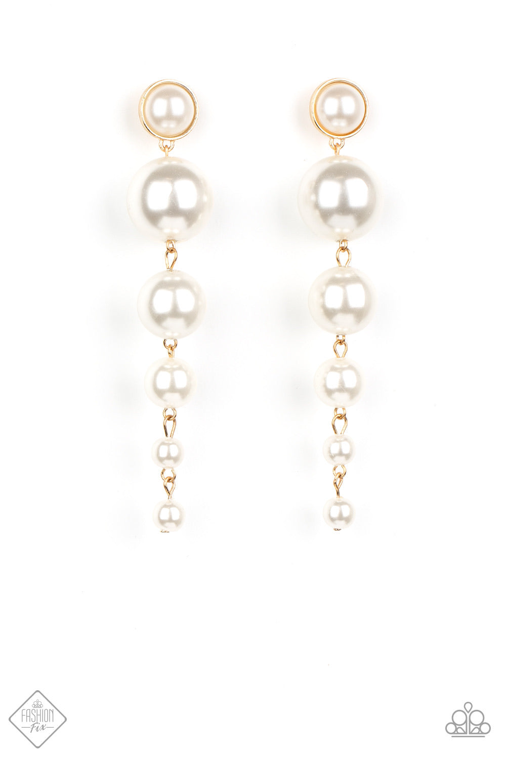 Living a WEALTHY Lifestyle - Gold Pearl Earrings - Paparazzi Accessories